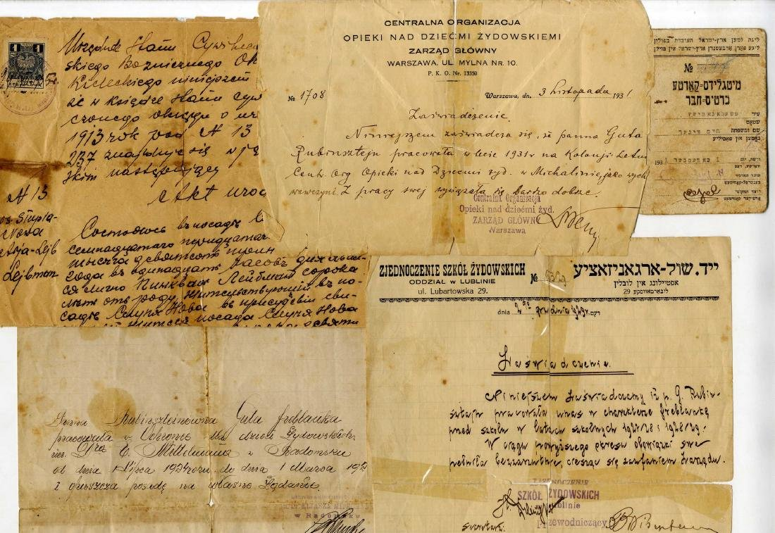 Polish Jewry - Collection of Early Documents - Start of