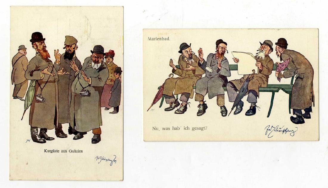 "Two Postcards, Anti-Semitic Souvenirs of the ""Der Ewige"