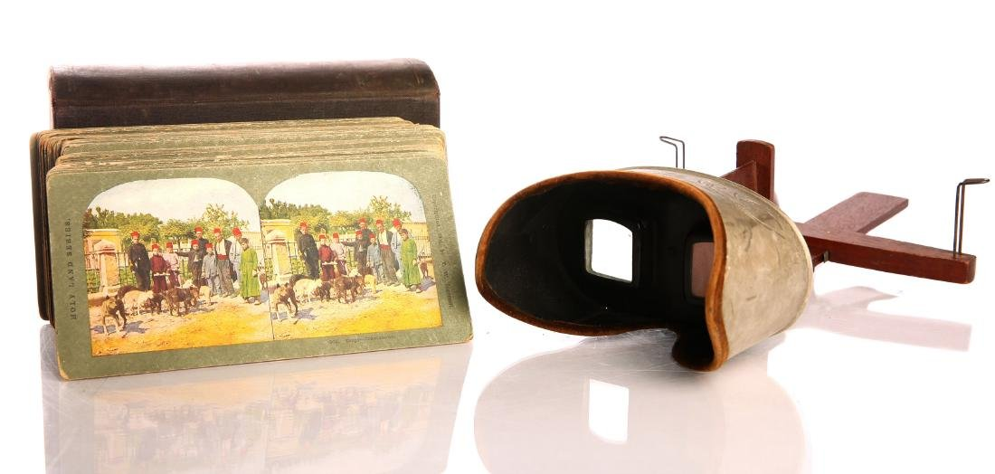 Collection of colored stereoscope photos/ stereoscope.