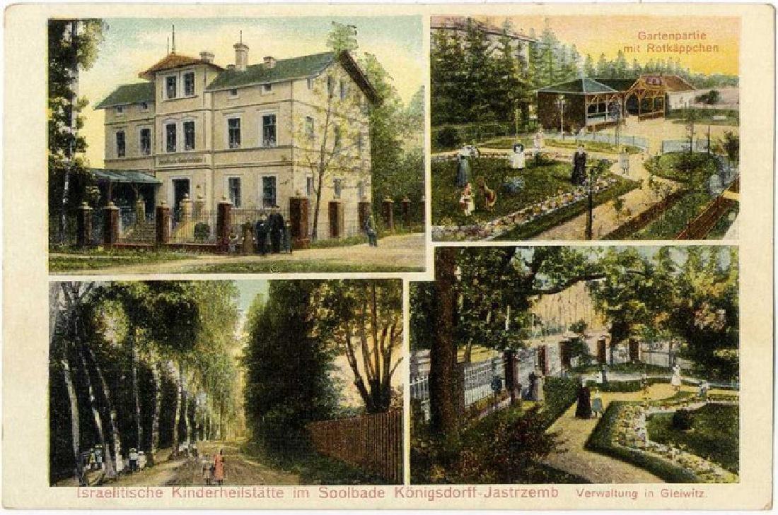 Souvenir Postcard - Jewish Orphanage in Konigsdorff,