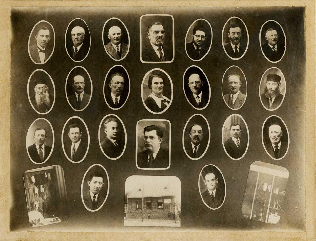 Two Group Photographs of Members of the 'Linat Tzedek'
