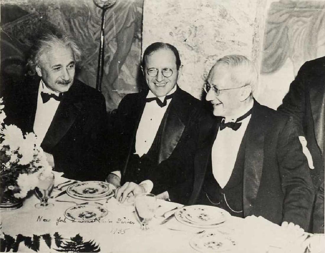 Albert Einstein - A Photograph in a Dinner which Took