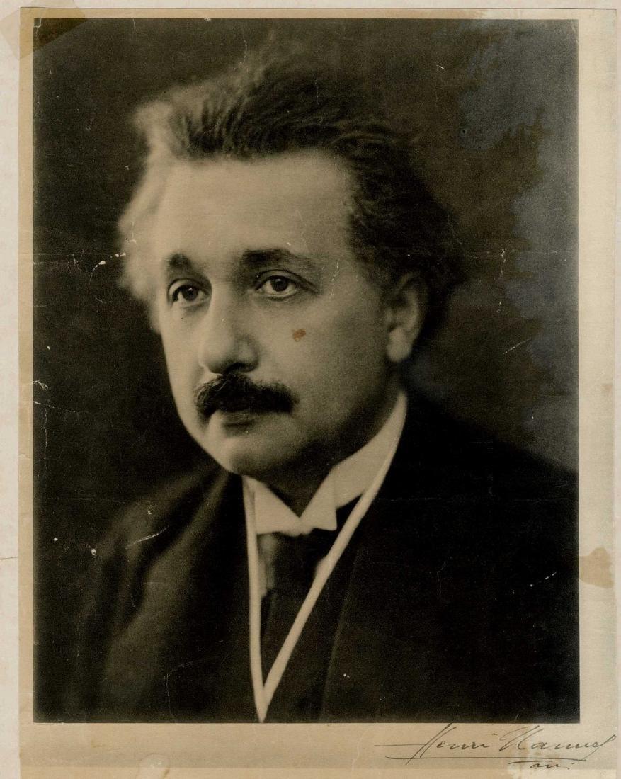 Albert Einstein - A Print of an Early Photograph