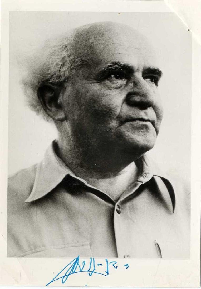 David ben Gurion - Autographed Photo