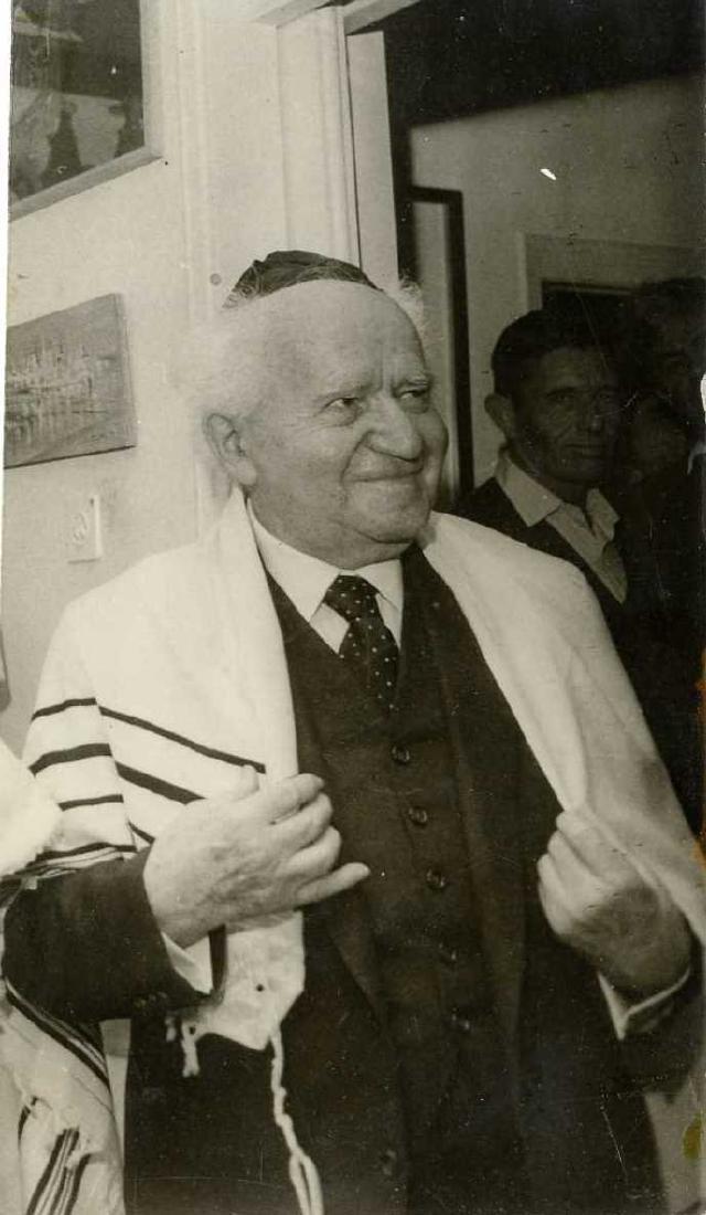 Three Photos of Zionist Leaders in Religious Scenes