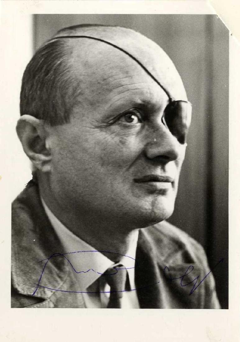 Moshe Dayan - Autographed Photo