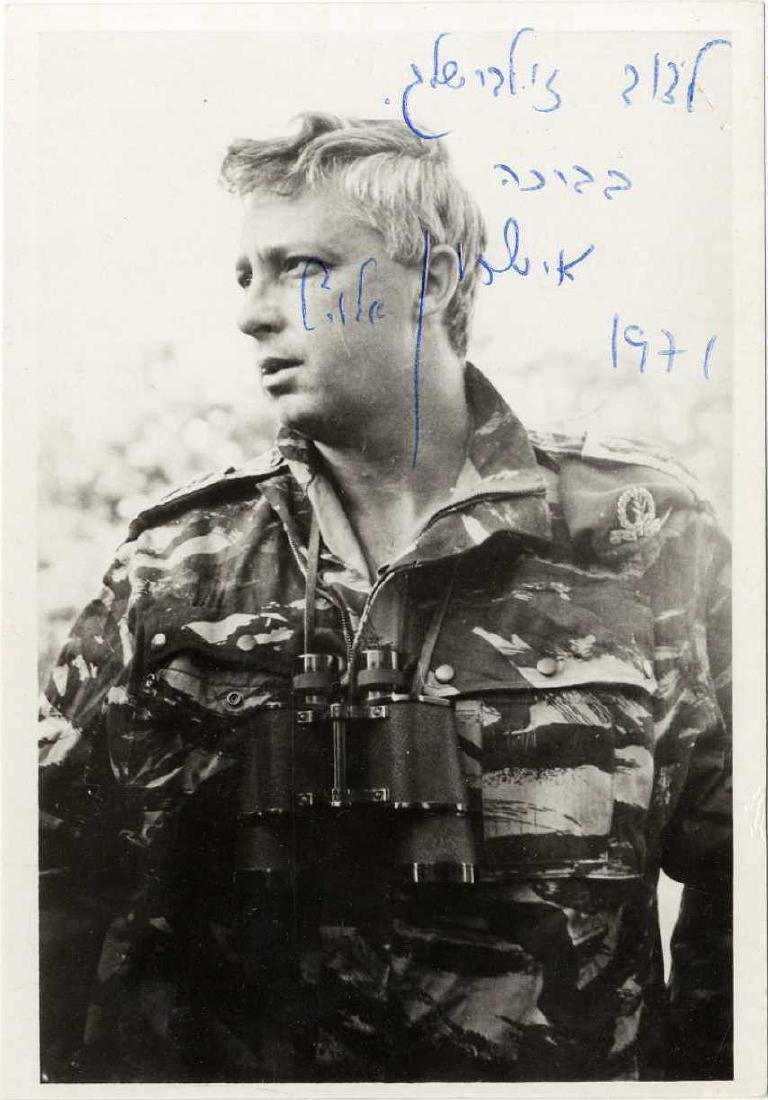 Ariel Sharon - Signed and Dedicated Photograph, 1971.