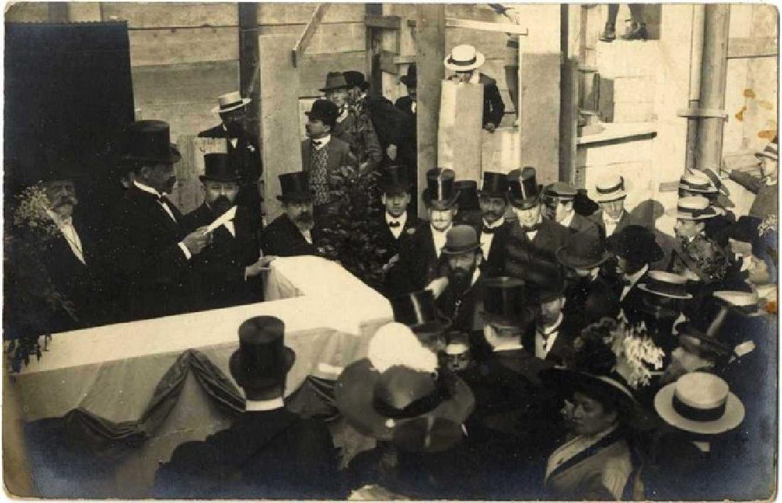 Photograph of the Inaugeration of the Old Synagogue in