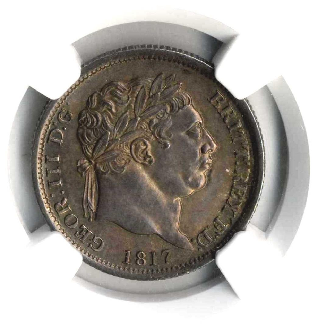 Silver Coin 1817 Great Britain 1s Rated by the NGC