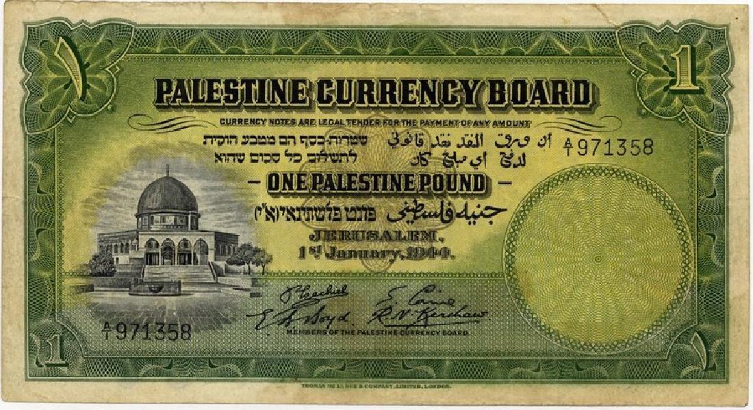 One Palestine Pound 1944