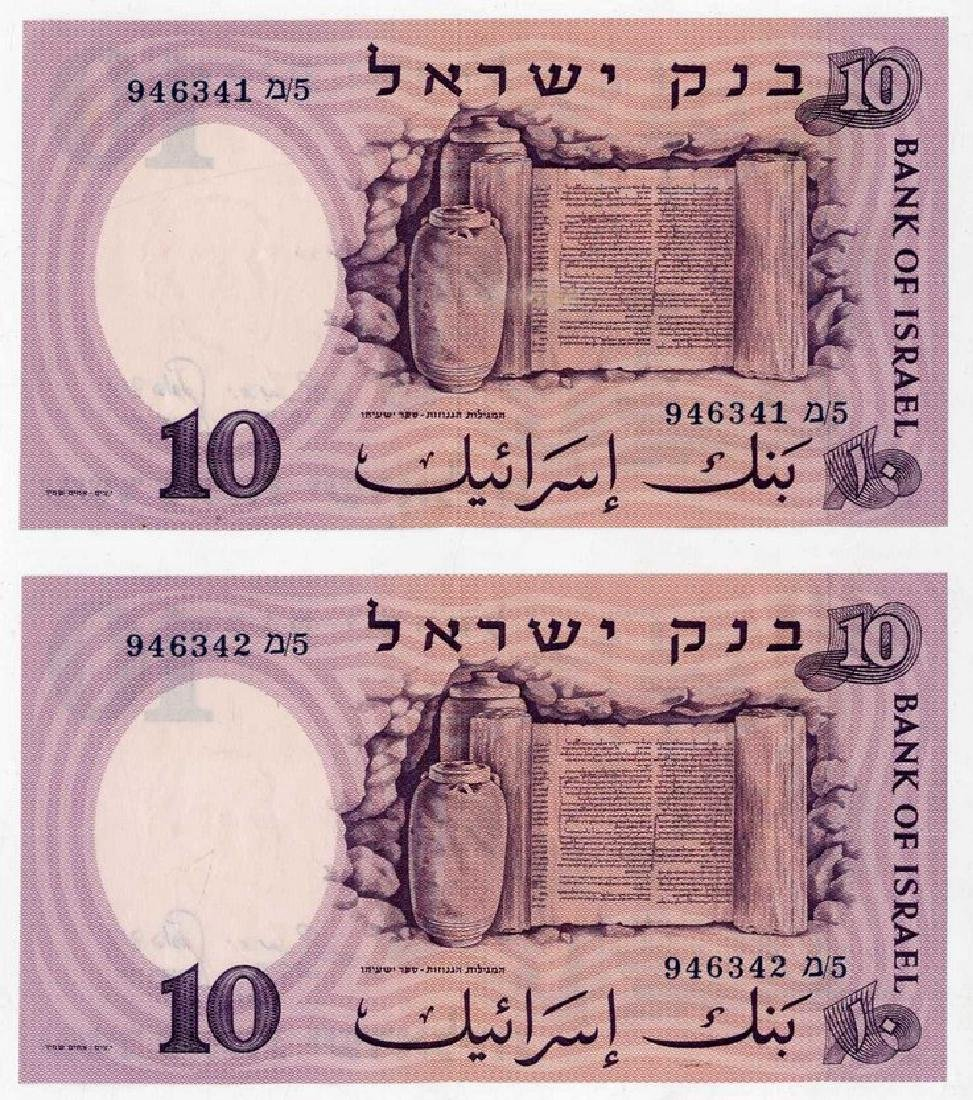Three 10 Lira Banknotes - Consecutive Numbers/Three 100