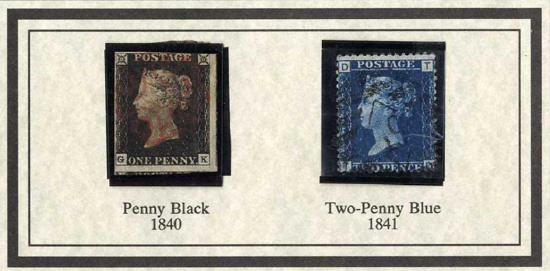Penny Black Stamps, Queen Victoria 1840/ Envelope with