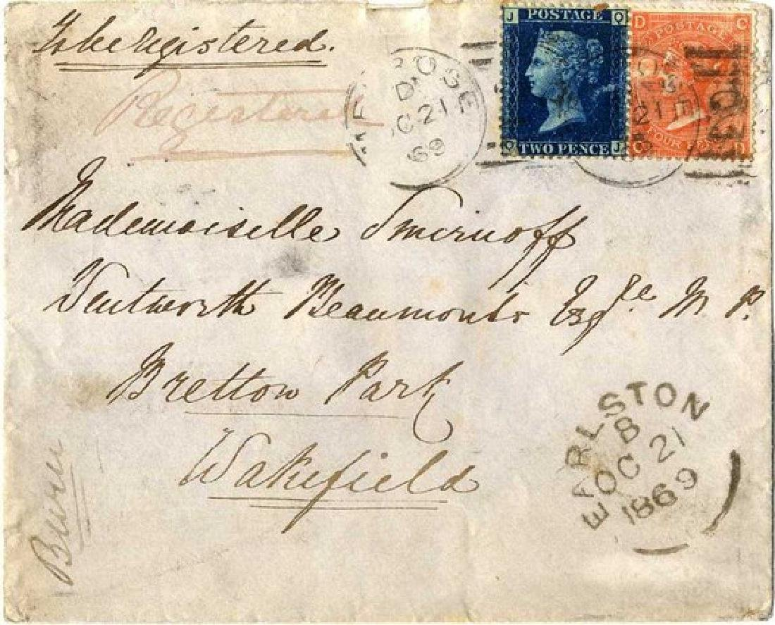 Penny Black Stamps, Queen Victoria 1840/ Envelope with - 3