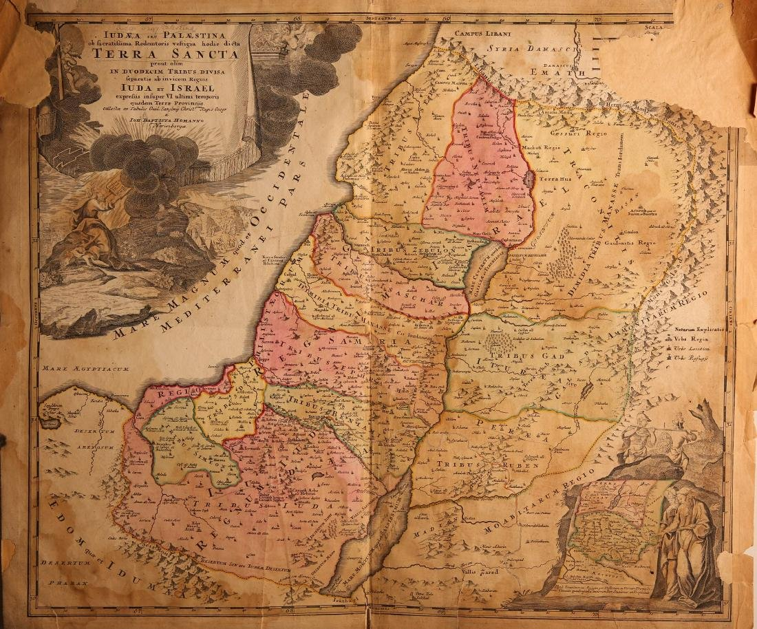 Six Maps - Engravings - Holy Land, 18th and 19th