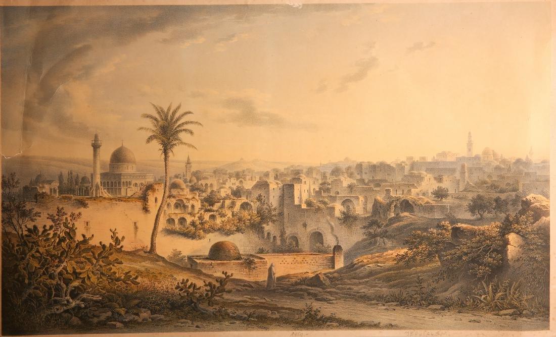 Jerusalem - Lithograph. Beginning of the 20th Century