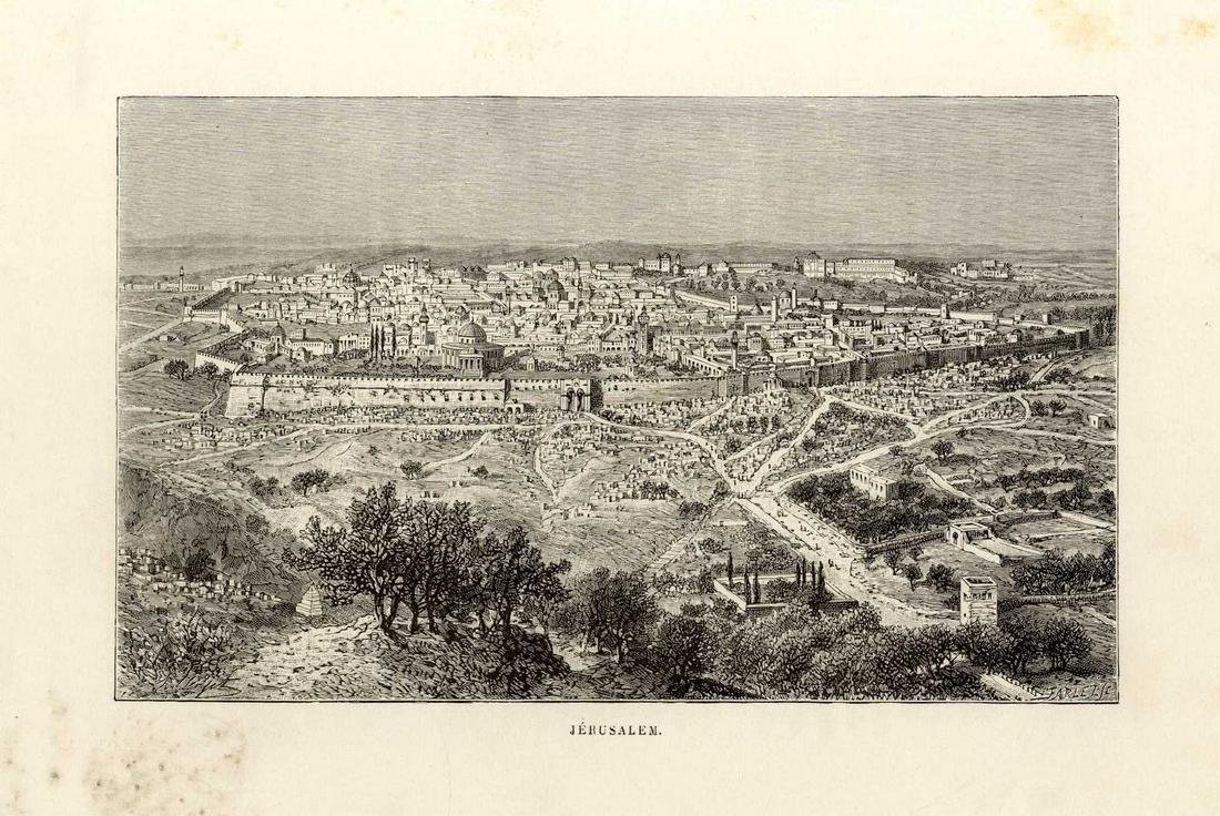 Collection of Lithographs of the City of Jerusalem,