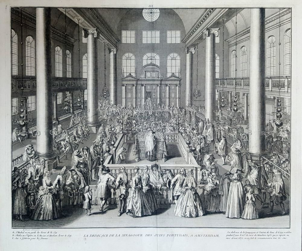 Inaugeration of the Portuguese Synagogue in Amsterdam -