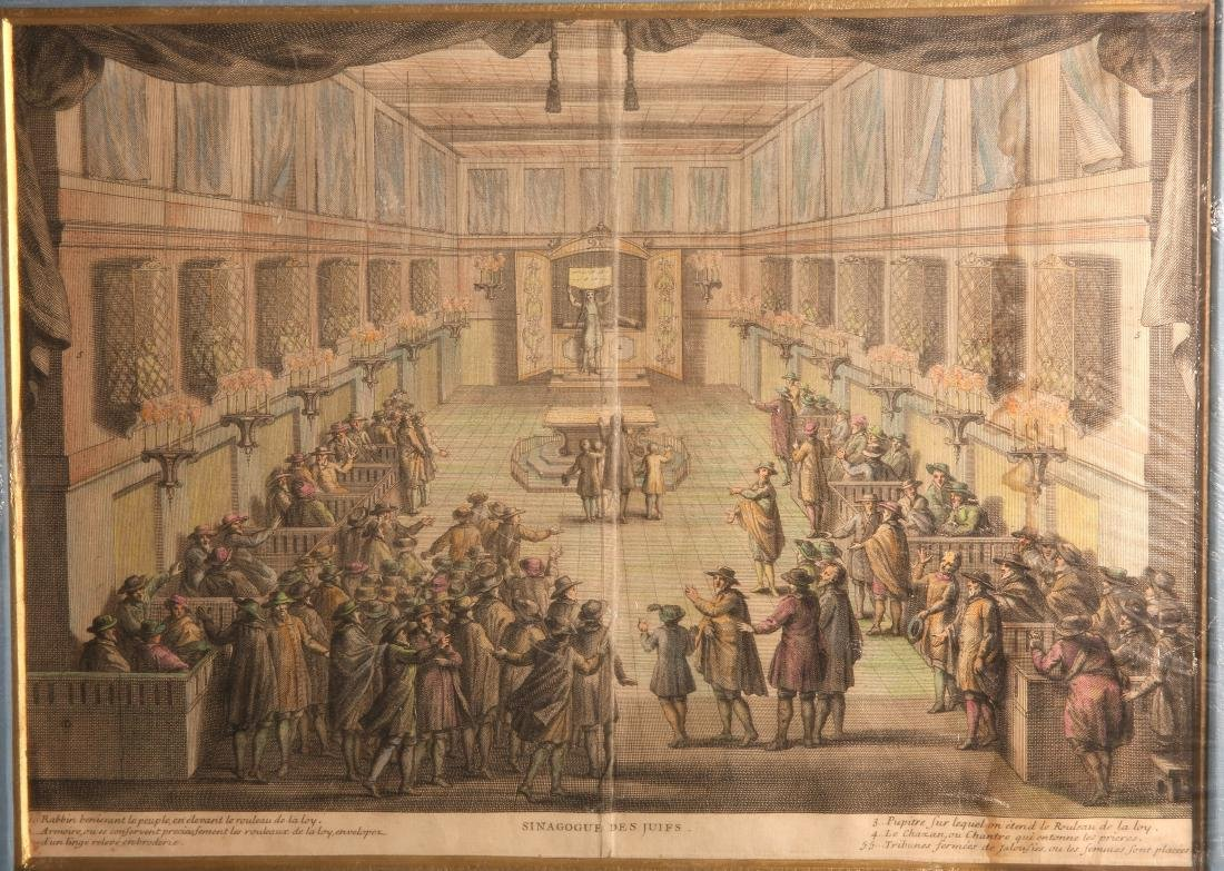 Engraving - Inside of a Synagogue during the Raising of