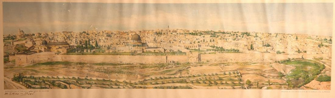 Ludwig Blum [1891-1975] - Jerusalem. View from the