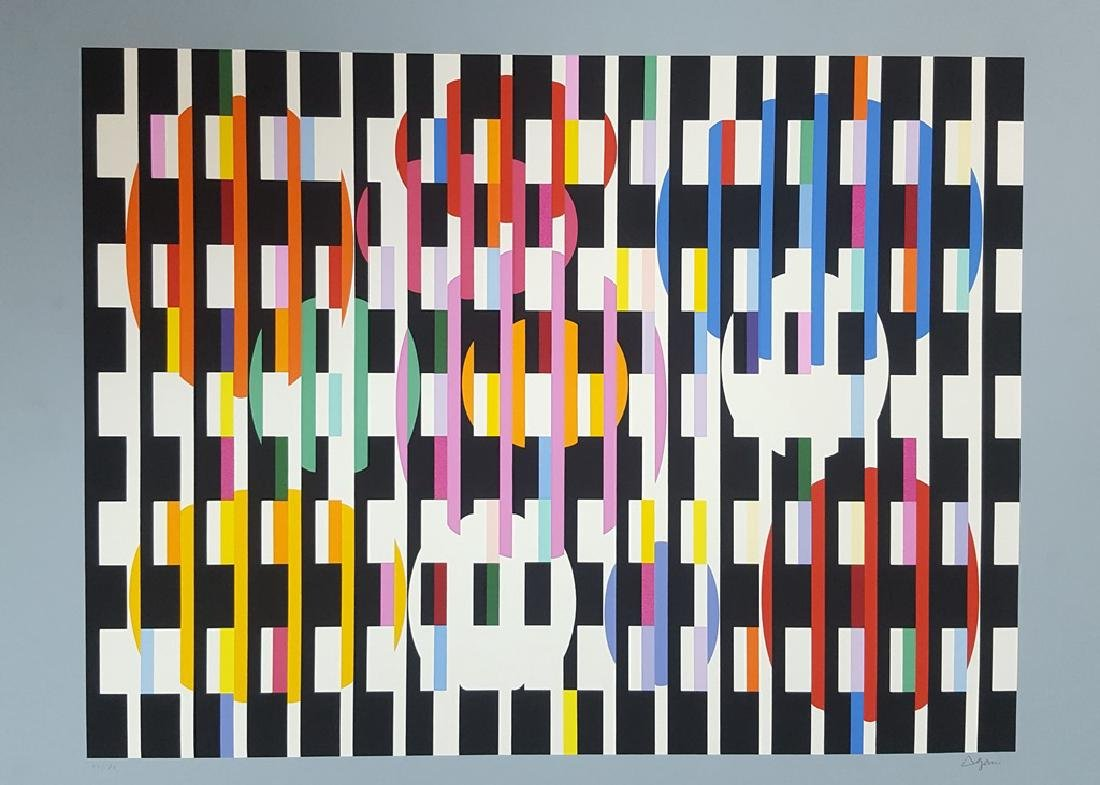 Yaakov Agam - War and Peace - A Signed and Numbered