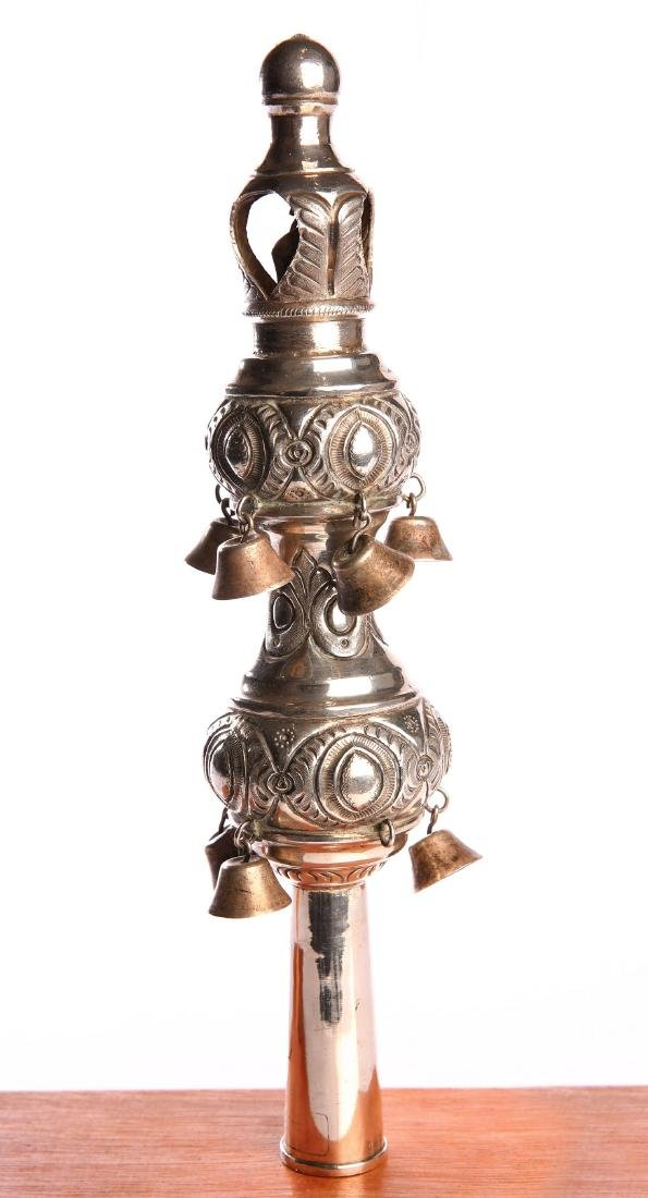 Finial for Torah Scroll - Silver. North Africa, 19th