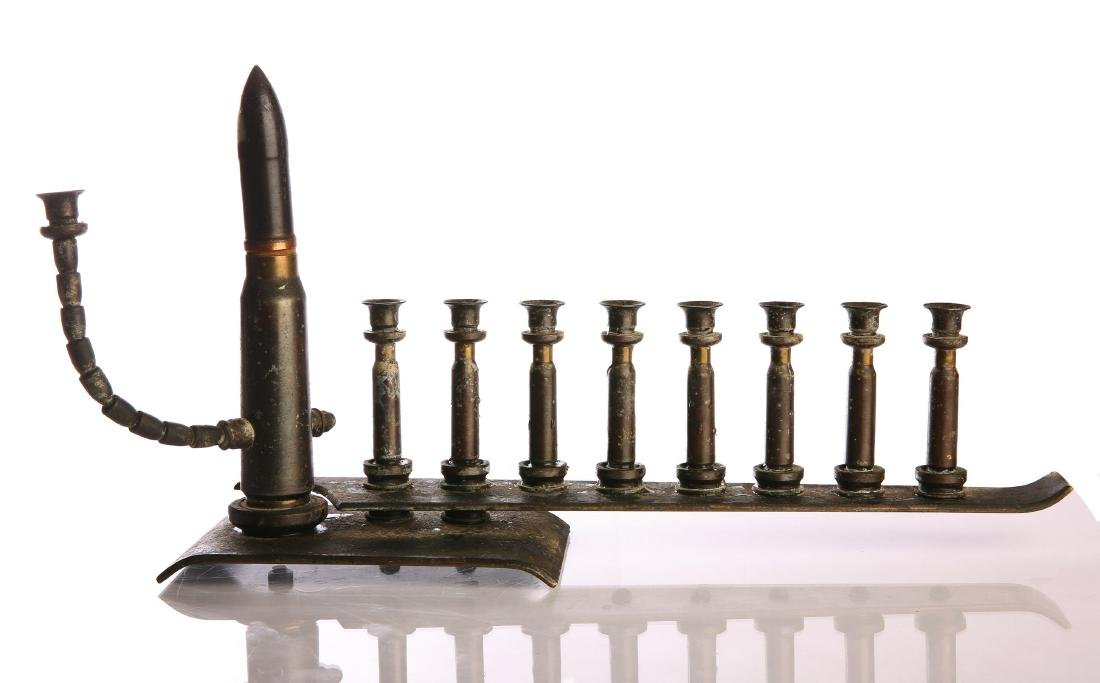 Chanuka Menorah Made out of Bullet Casings. 20th