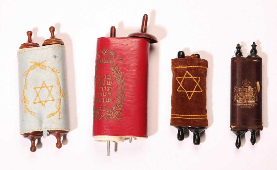 Four Miniature Torah Scrolls - 20th Century