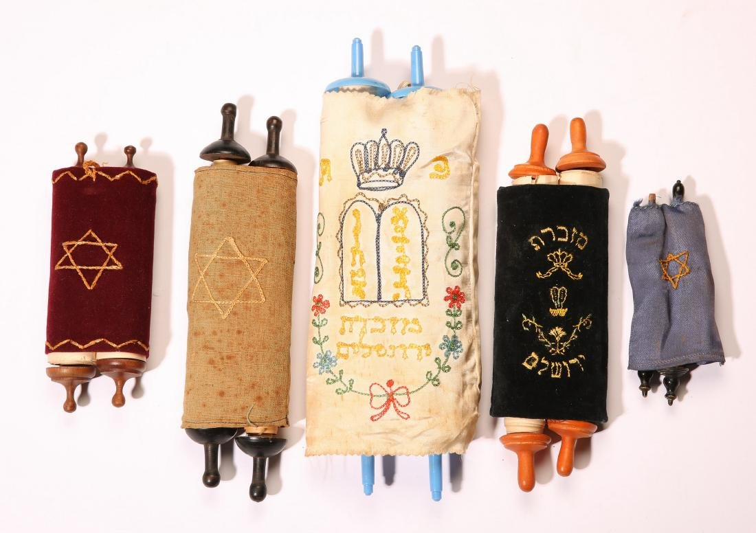 Five Miniature Torah Scrolls, 20th Century