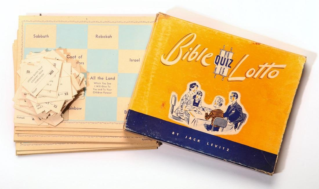 A Game - Bible Quiz Lotto, Philadelphia 1949