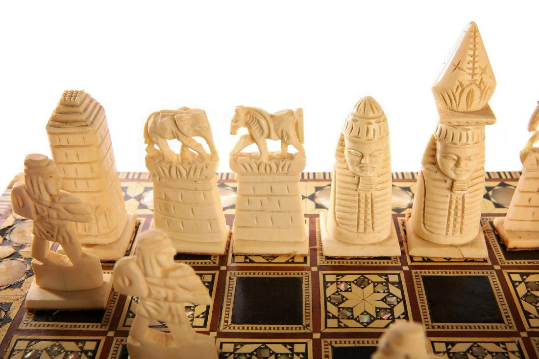 Egyptian Chess, Ivory with Mother of Pearl. Egypt, - 2