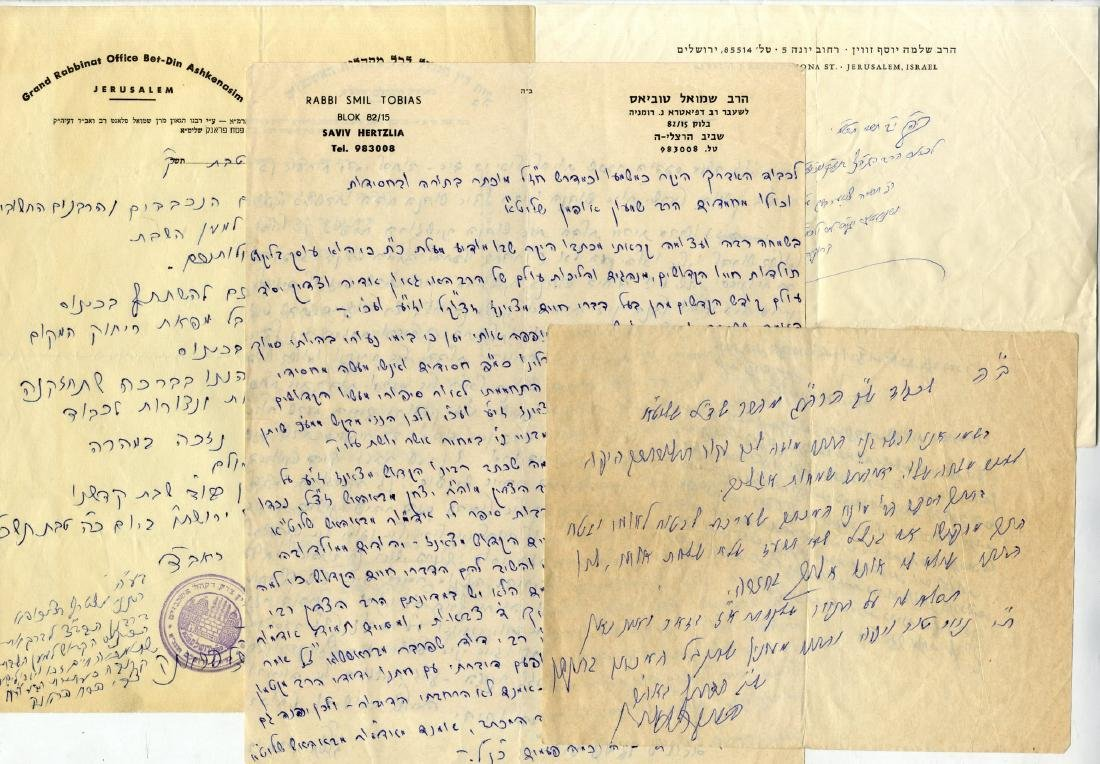 Large Collection of Rabbinical Letters