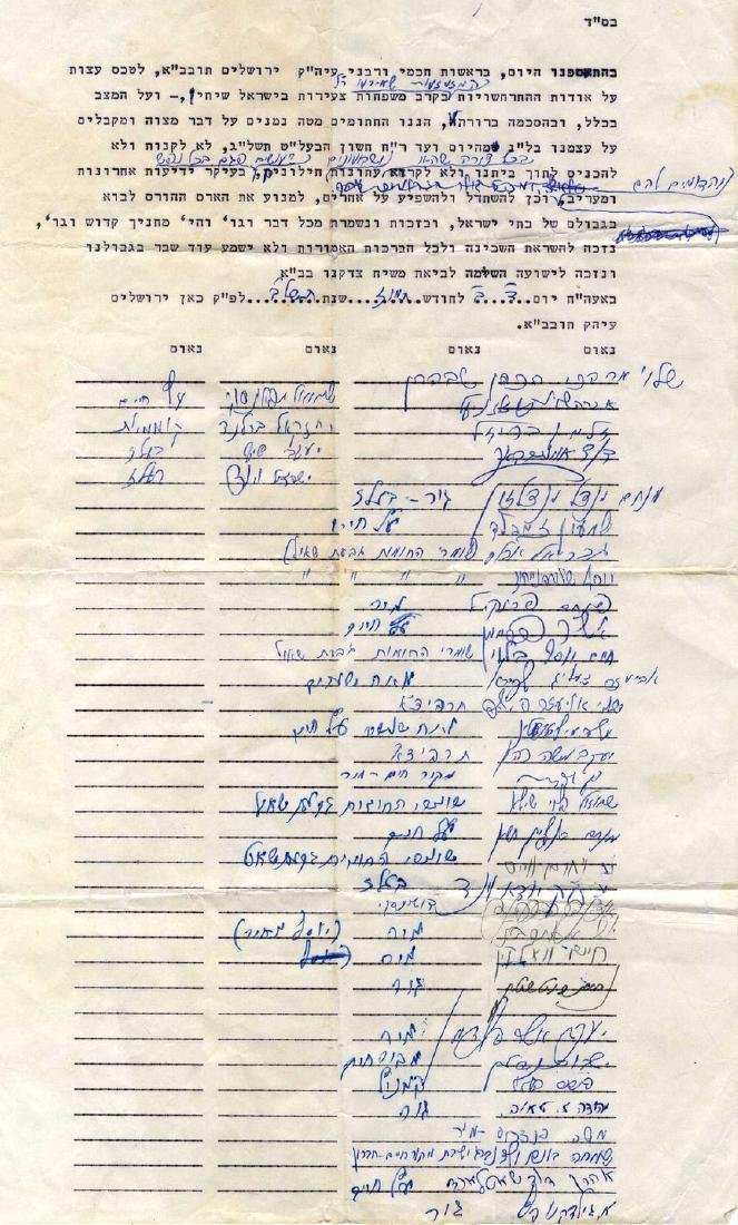 Joint Petition by Rabbinic Leaders 'Not to buy and not
