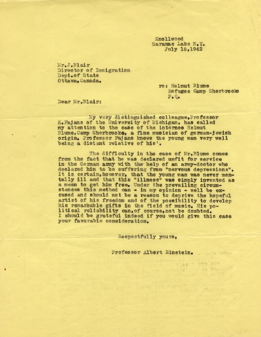 Correspondence Describing Einstein's Commitment and - 10