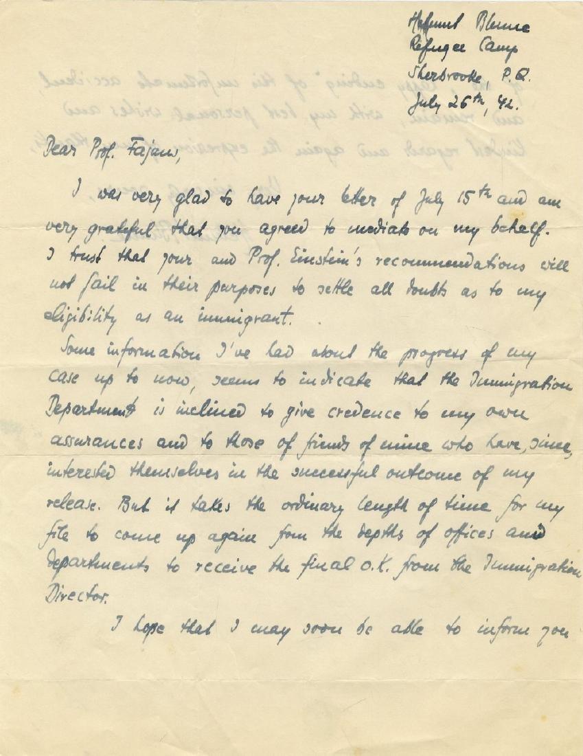 Correspondence Describing Einstein's Commitment and - 11