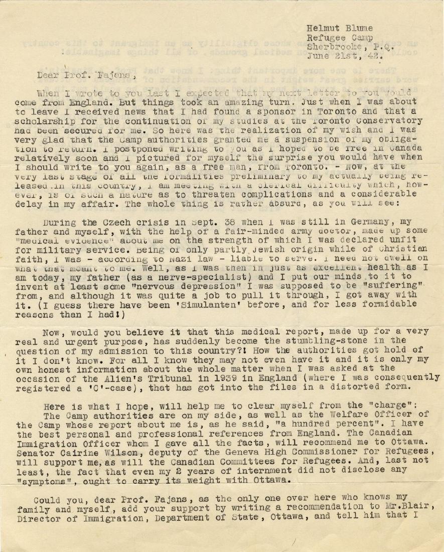 Correspondence Describing Einstein's Commitment and