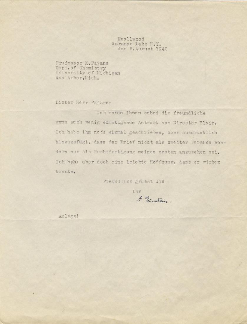 Correspondence Describing Einstein's Commitment and - 2