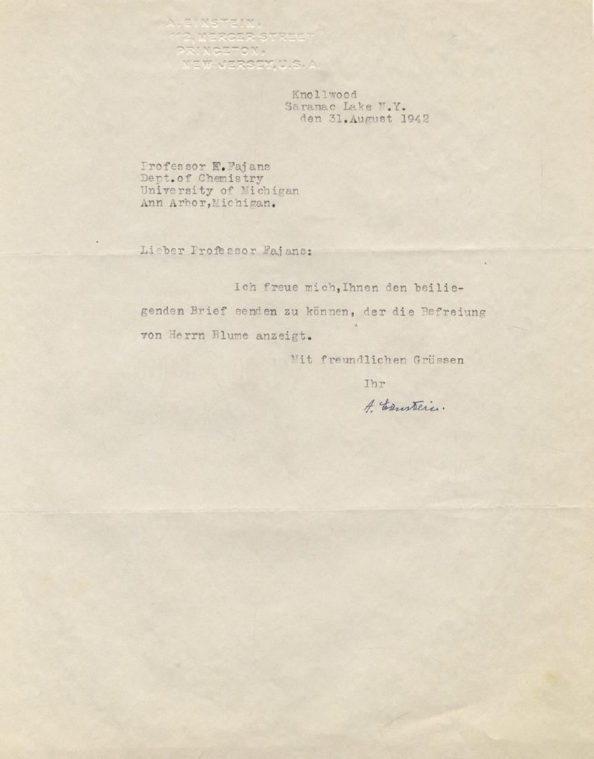Correspondence Describing Einstein's Commitment and - 4