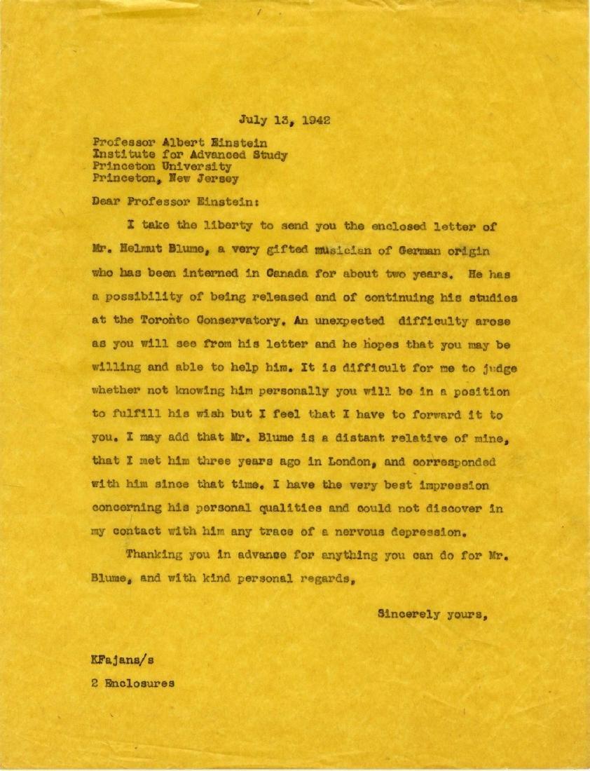 Correspondence Describing Einstein's Commitment and - 6