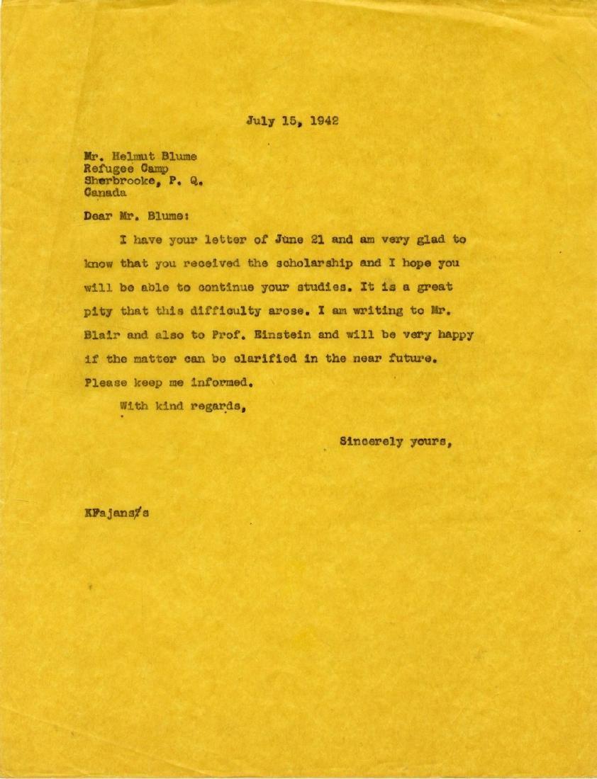 Correspondence Describing Einstein's Commitment and - 7