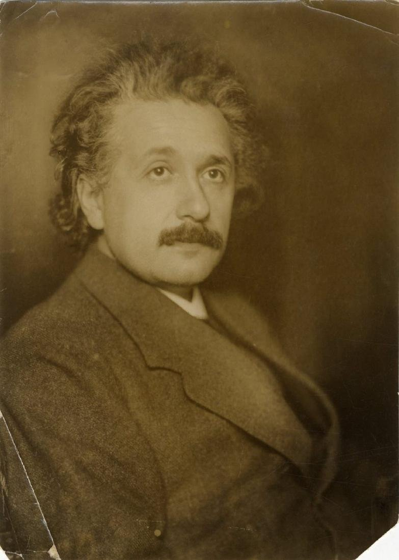 Original Photograph of Albert Einstein, c. 1922, the