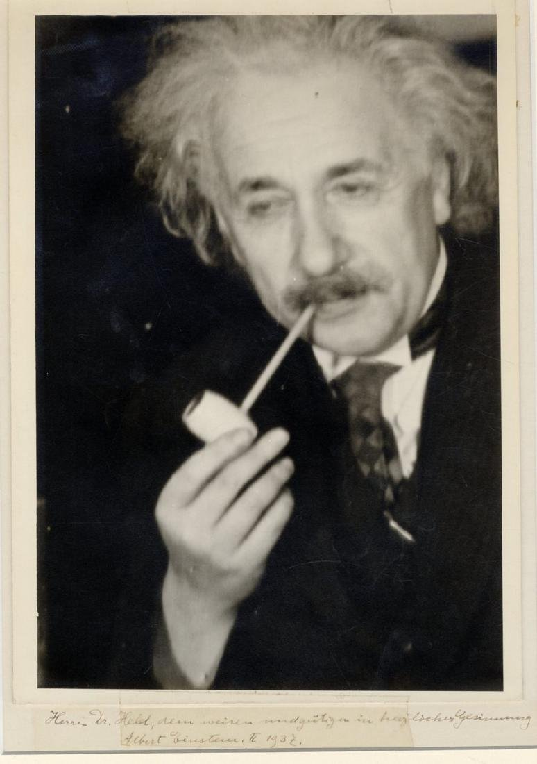 Rare Artistic Photograph of Prof. Einstein Smoking a