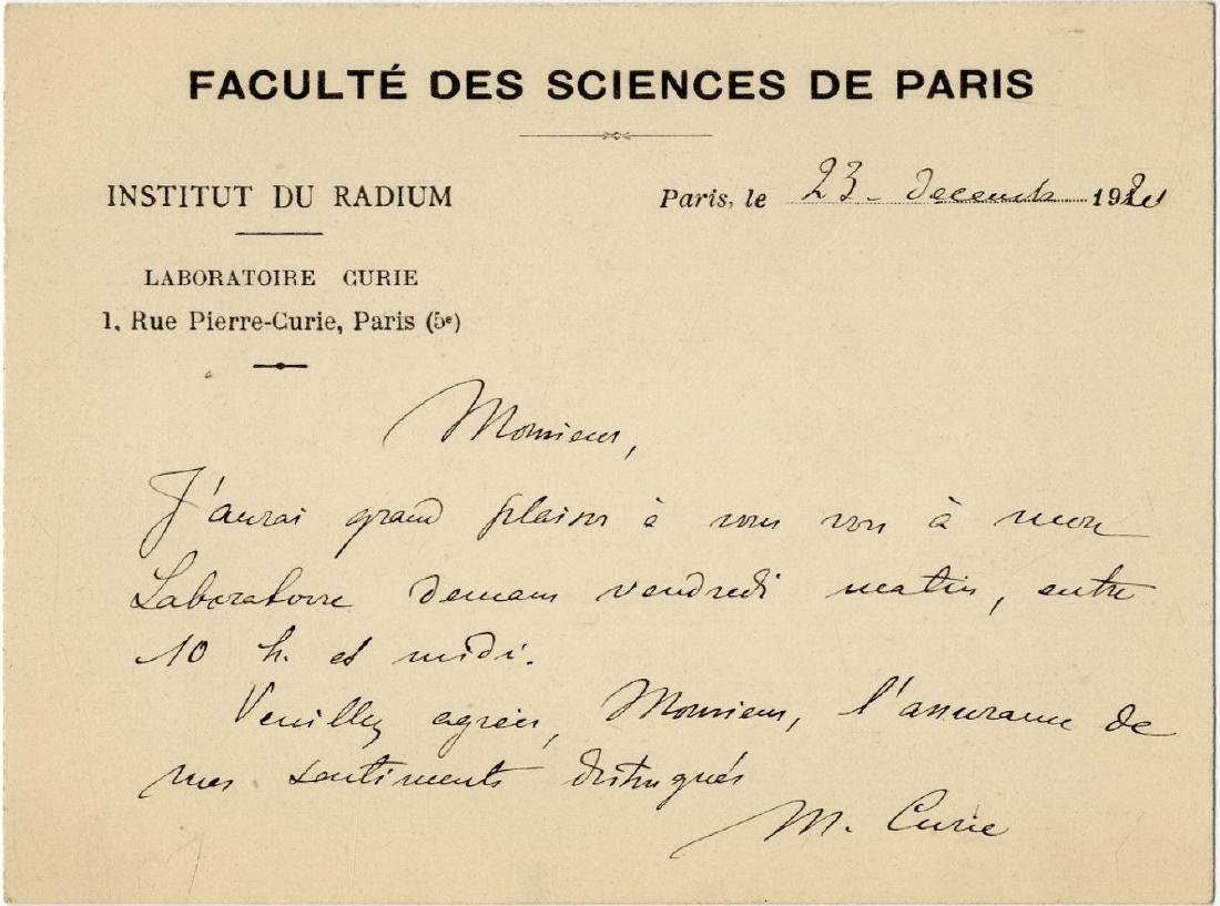 Letter from the Famous Scientist, Winner of Two Nobel