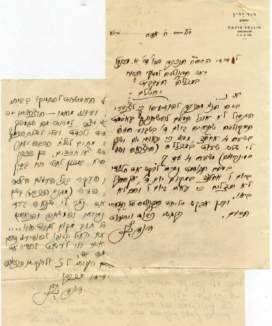 Two Letters from David Yellin / Correspondence between