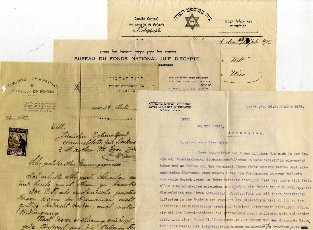 Parcel of Early Documents and Letters - Zionist
