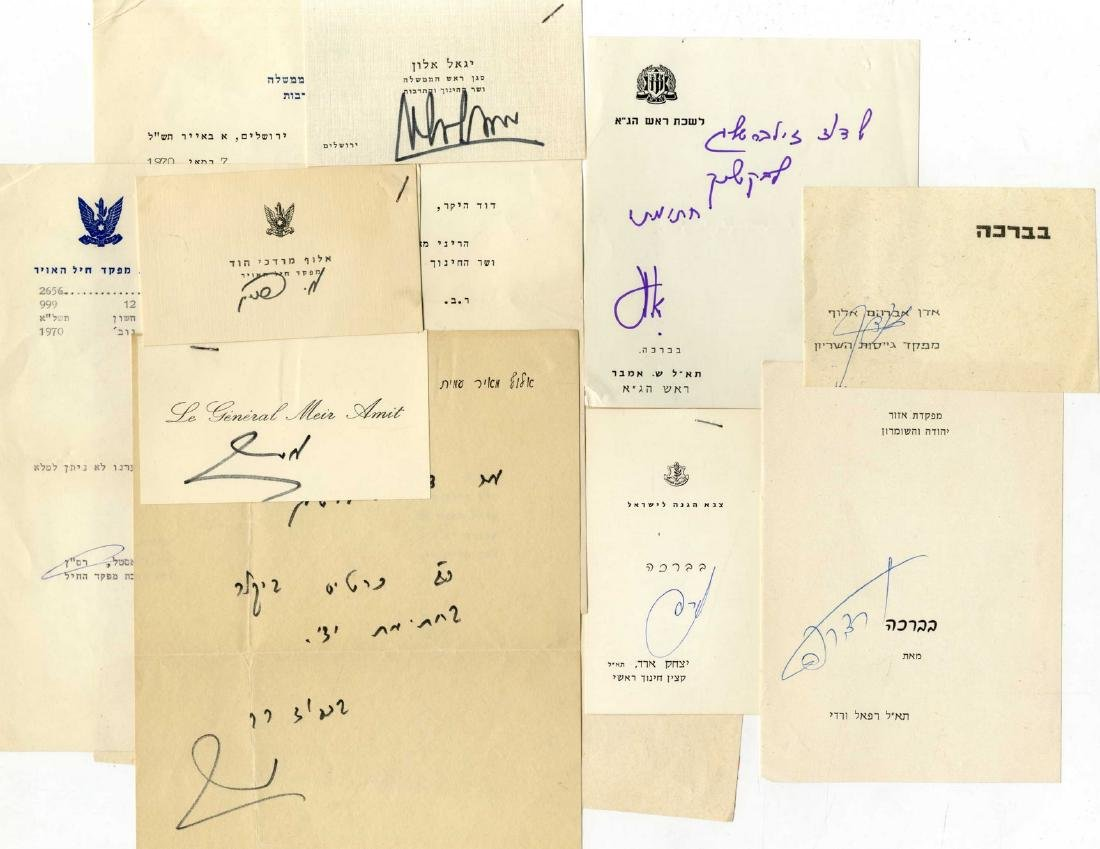 Collection of Autographs of Officers, Generals and
