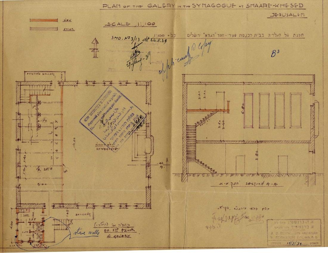 """Construction Plans for the GR""""A Synagogue in the"""