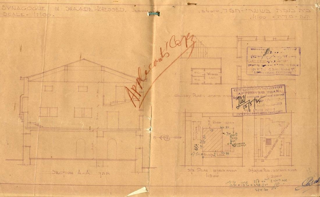 """Construction Plans for the GR""""A Synagogue in the - 2"""