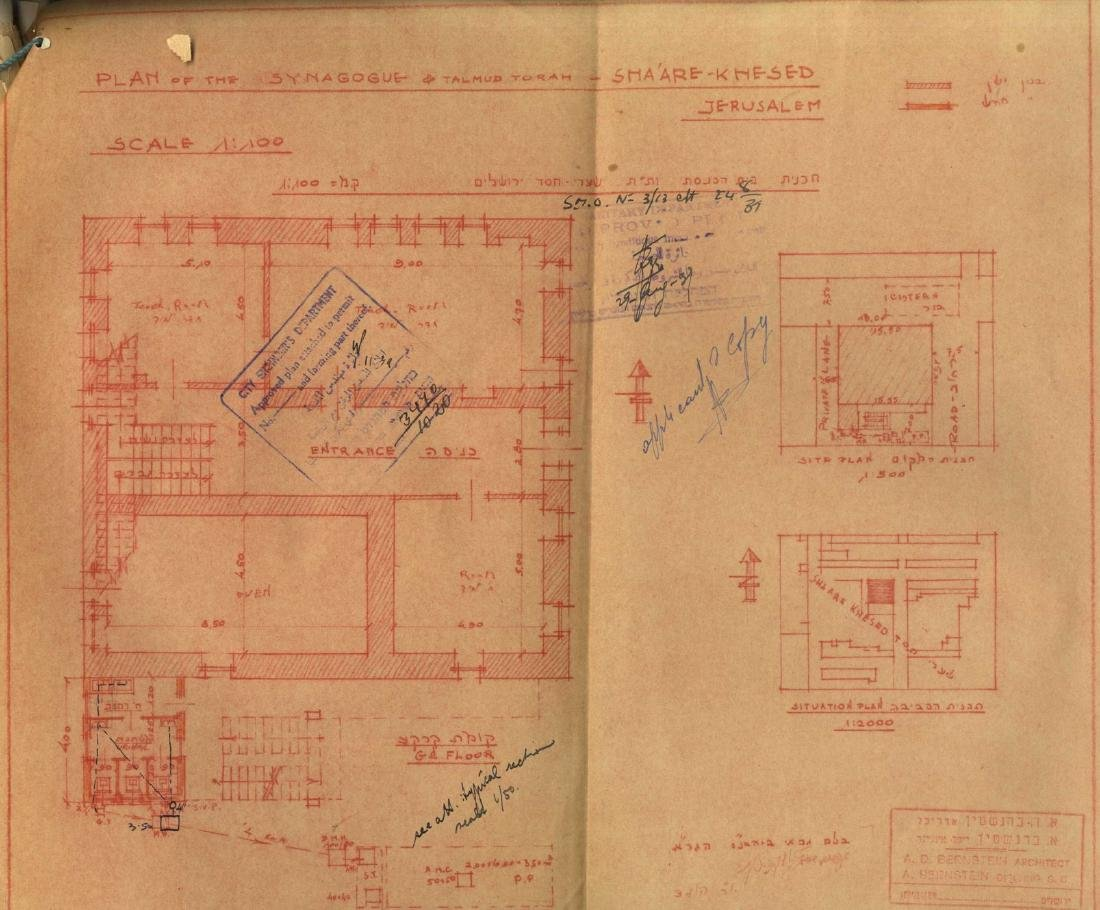 """Construction Plans for the GR""""A Synagogue in the - 3"""