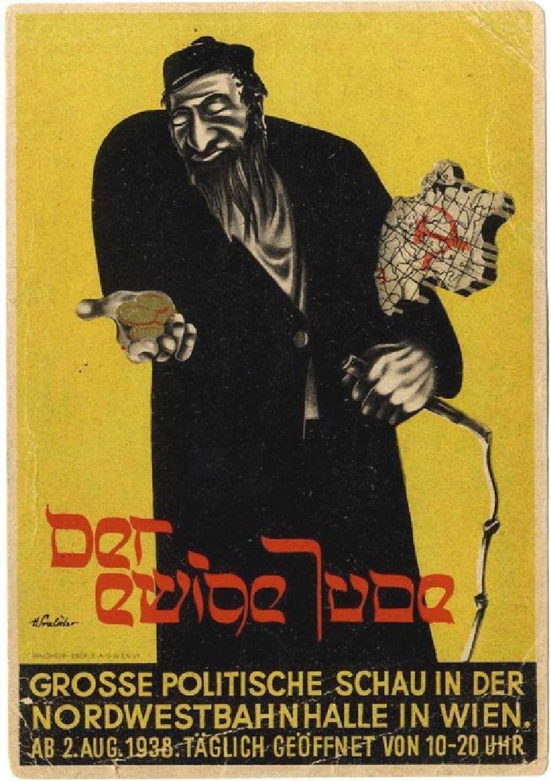 """Anti-Semitic Postcard - """"The Eternal Jew"""" - Vienna 1938"""