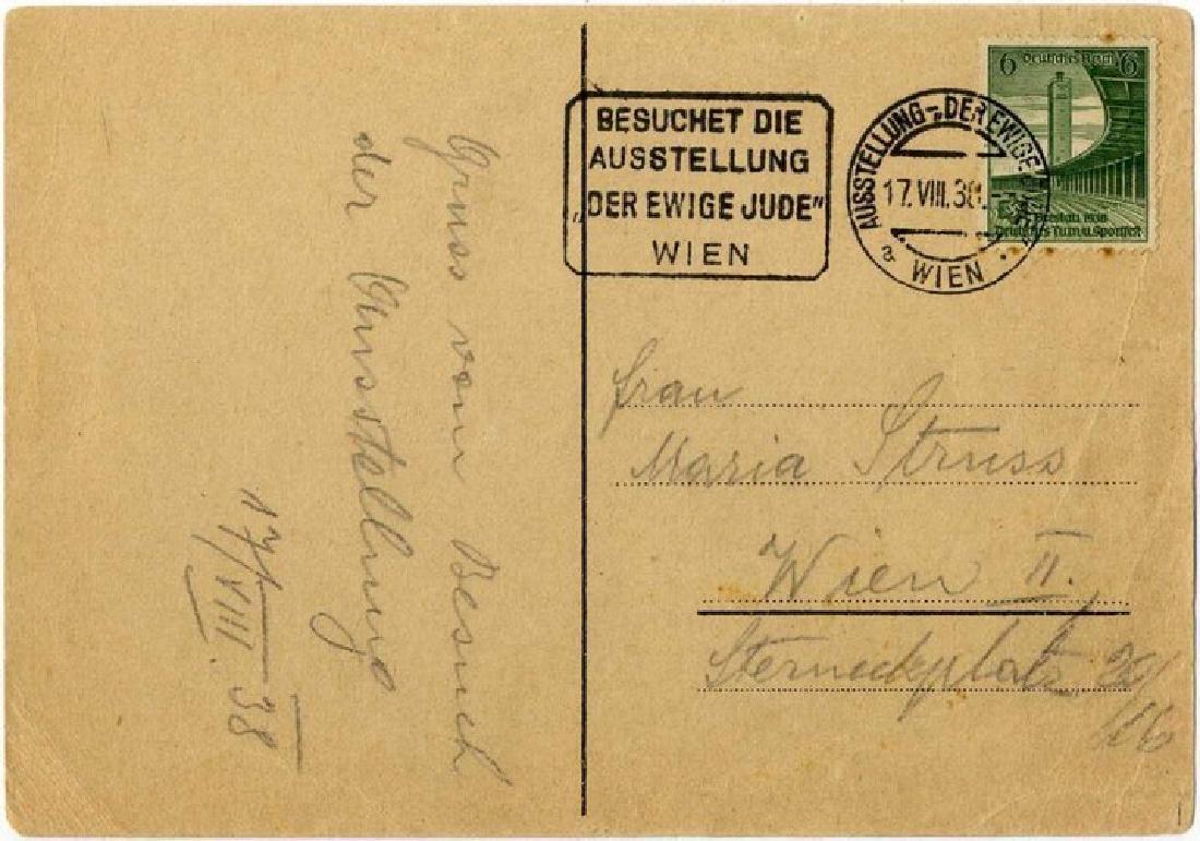"""Anti-Semitic Postcard - """"The Eternal Jew"""" - Vienna 1938 - 2"""
